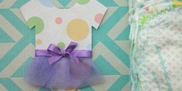 ideia de convite para chá de bebê menina