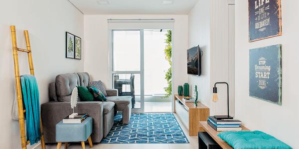 Decoração de sala de apartamento