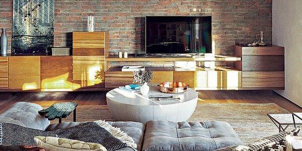 decoração de sala de estar ampla 2020