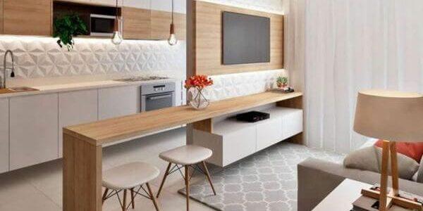 Decoração de sala com cozinha 2020