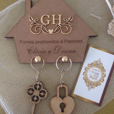 Porta chaves lembrança de casamento simples