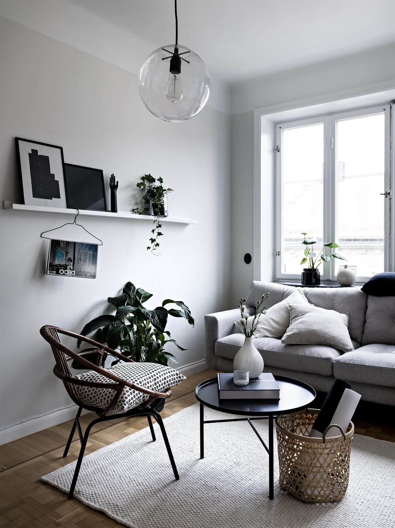 Tendência sala pequena minimalista