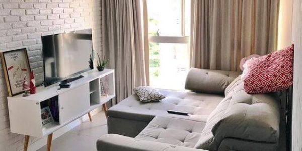 Decoração sala pequena minimalista