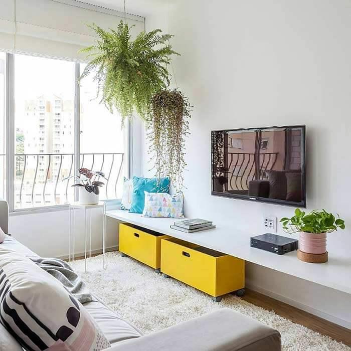 Ideia para sala pequena minimalista