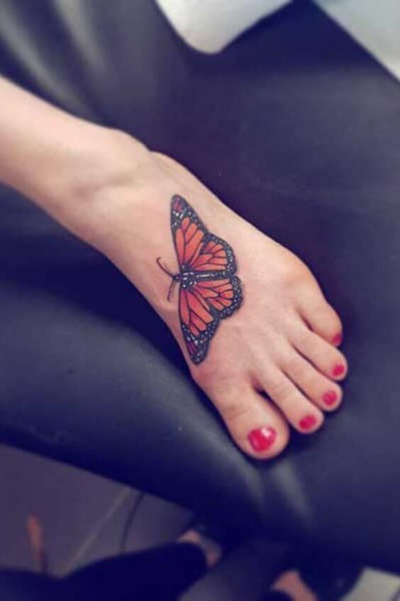 tatuagem no pé new school