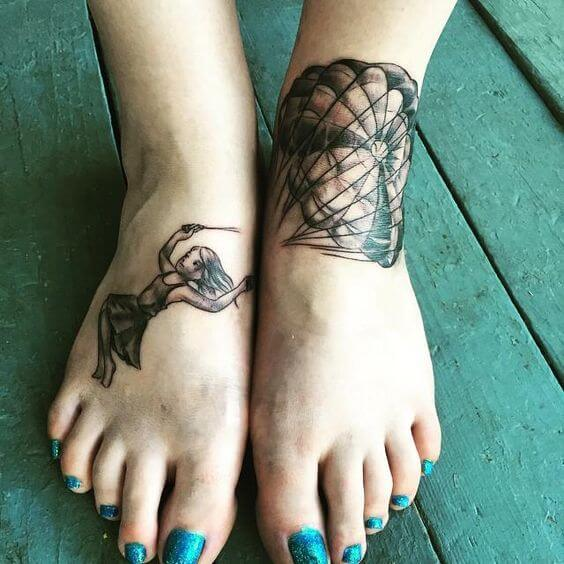 tatuagem no pé old school