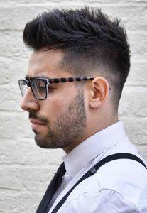 Fauxhawk corte de cabelo masculino