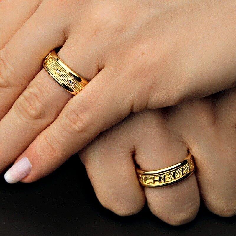 Aliança de casamento personalizada