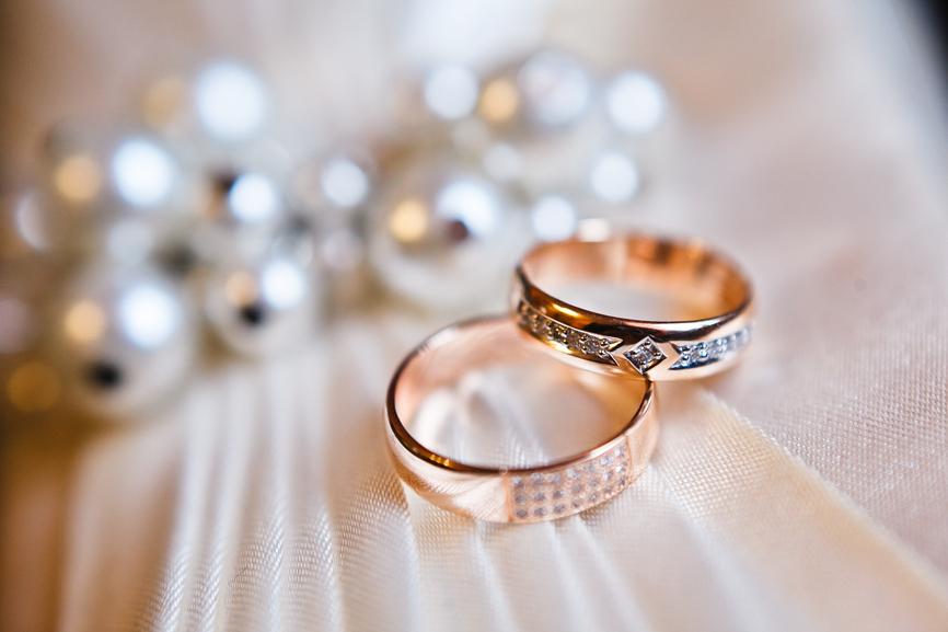 Aliança de casamento ouro rosé