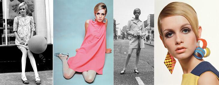 Roupas coloridas dos anos 60