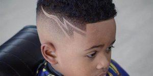 corte de cabelo infantil com risquinho masculino
