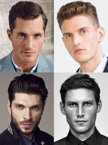 Corte de cabelo masculino para rosto retangular