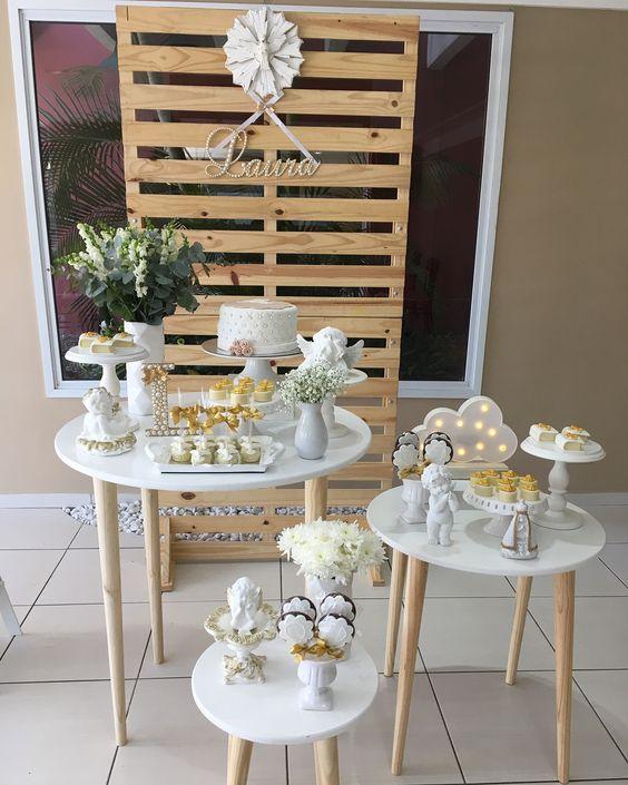 Mini Table Decoração para Batizado