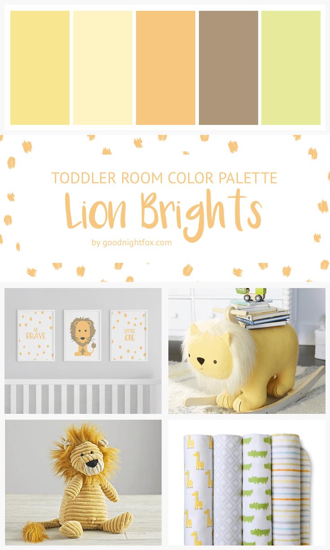 Paleta de cores para quarto de bebê