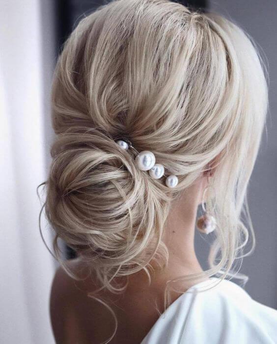 Penteado de casamento coque