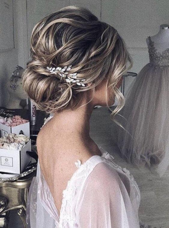 Penteado coque para noiva