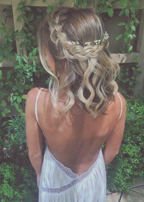 Penteado de Casamento de Noiva com Trança