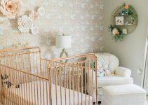 Decoração vintage de quarto de bebê