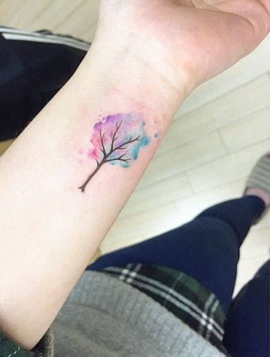 Tatuagem Aquarela no Pulso