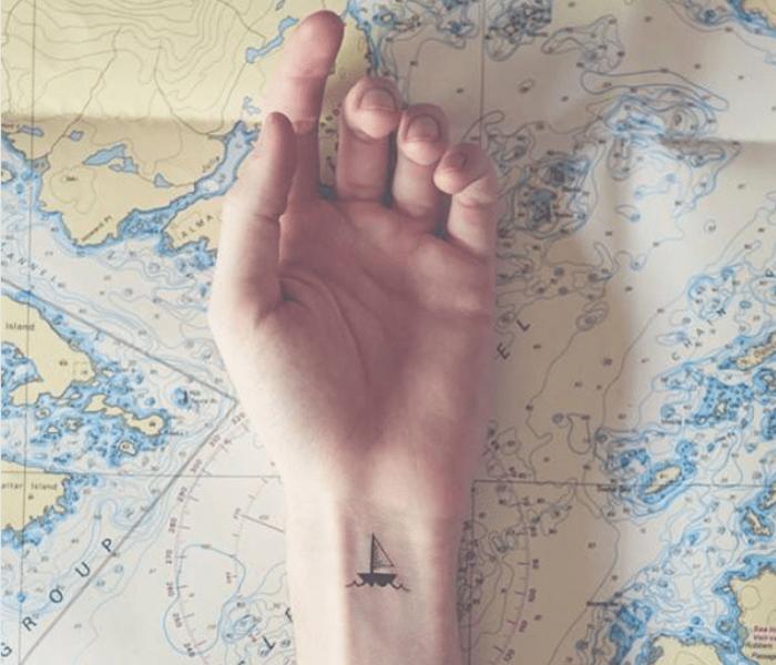 Tatuagem no pulso minimalista