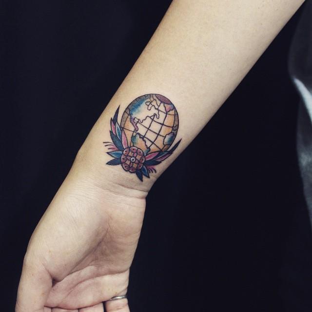 Tatuagem no Pulso Old School