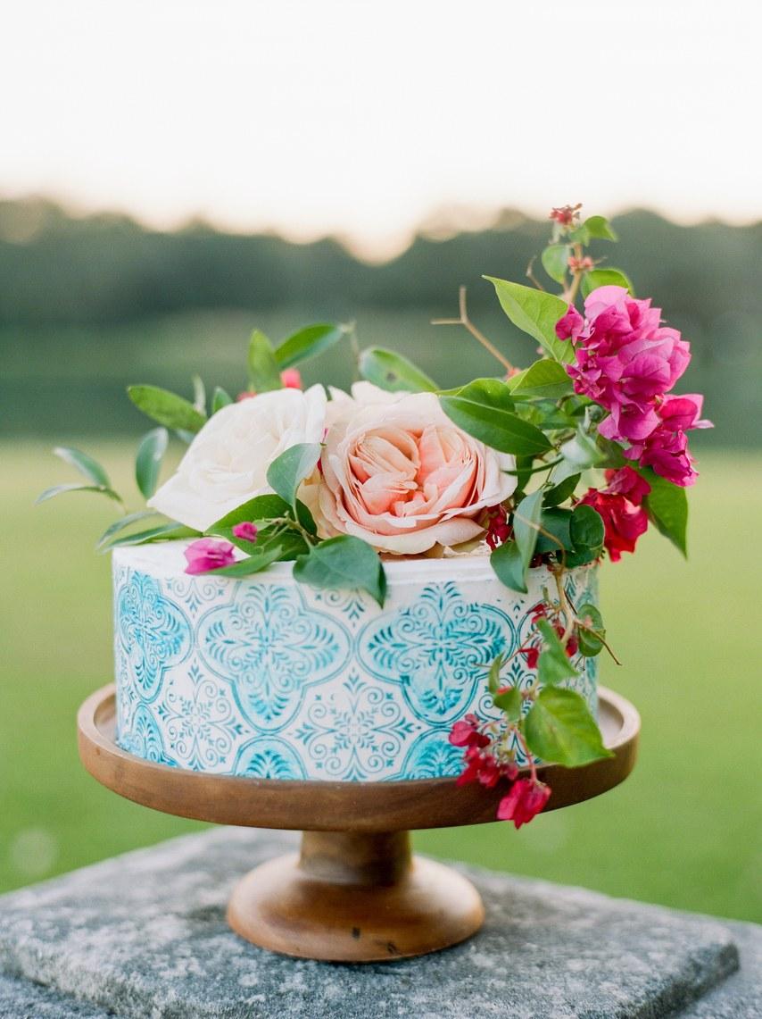 Bolo-azulejo de casamento 2