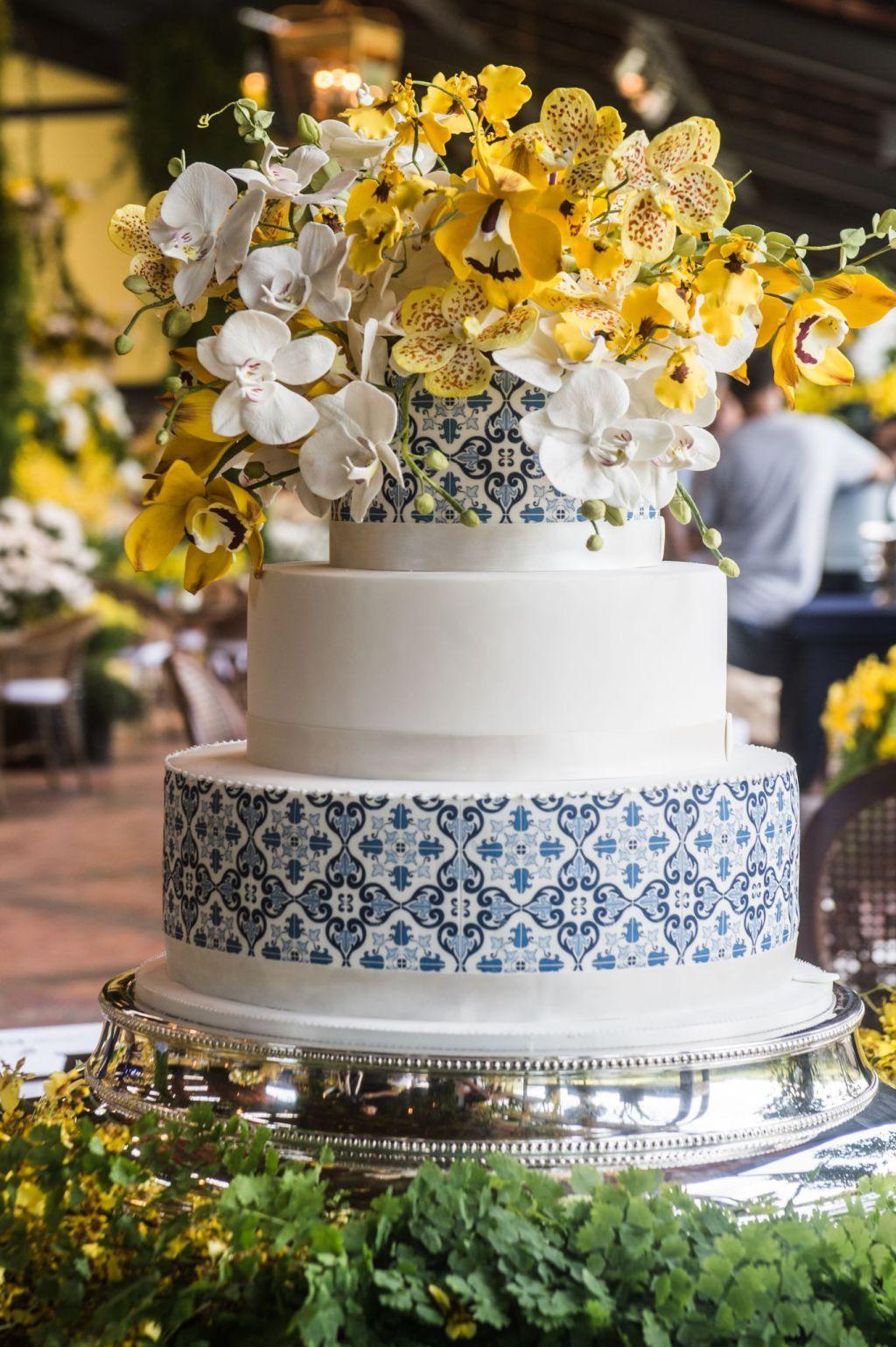 Bolo-azulejo de casamento
