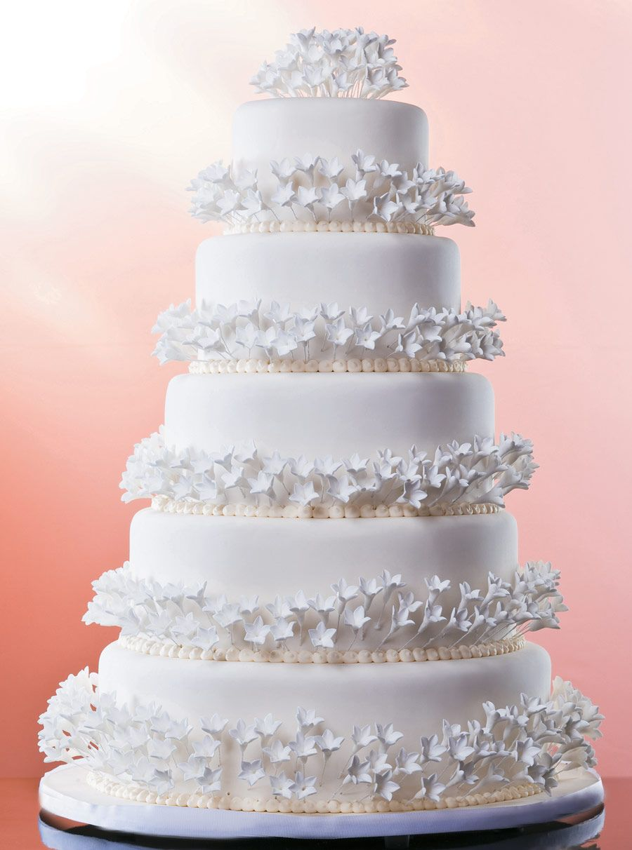 Bolo de casamento tradicional branco 2