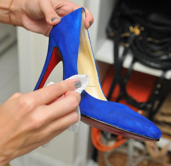sapato de camurça azul