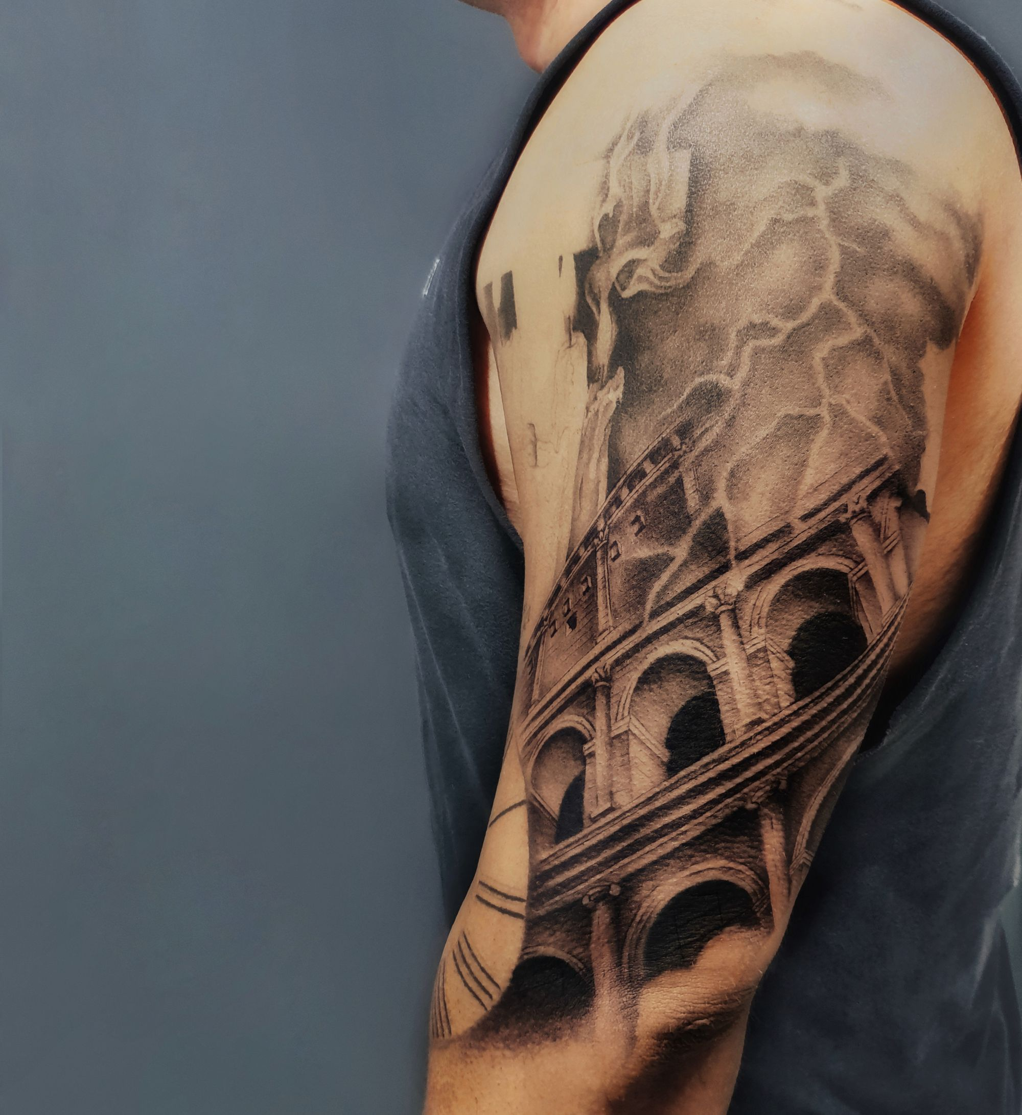 Graywash tattoo