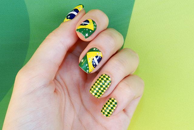 Unha decorada amarela do Brasil 2