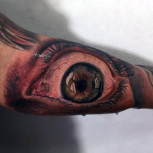 amazing-hyper-realistic-mens-3d-eye-bicep-tattoo
