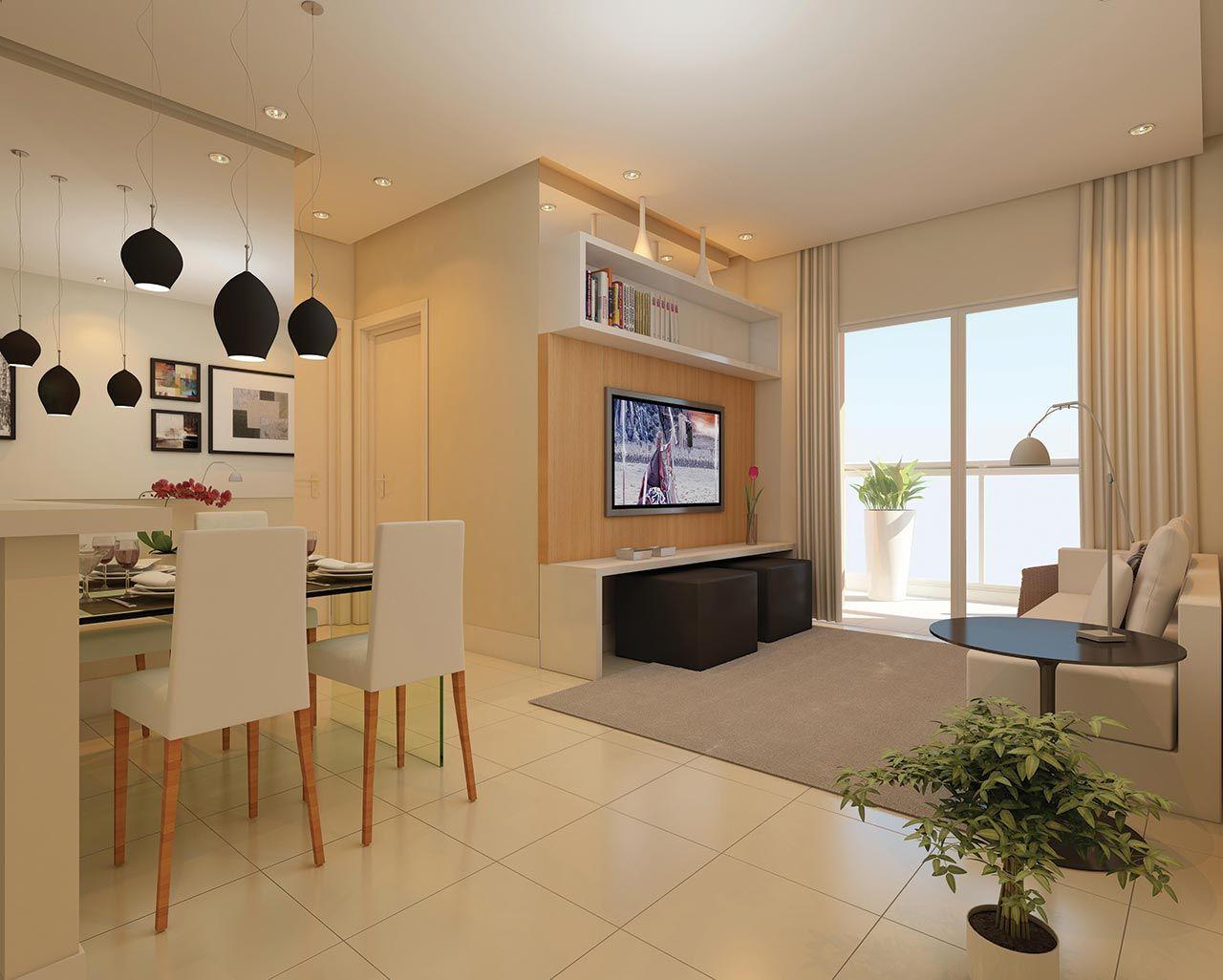 apartamento pequeno iluminação