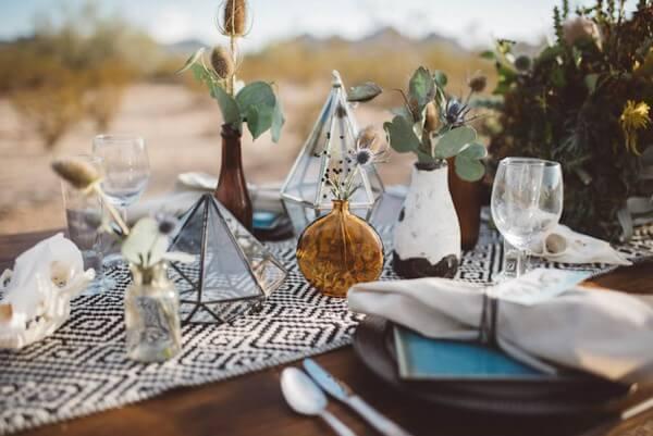 decoração de casamento naturalista