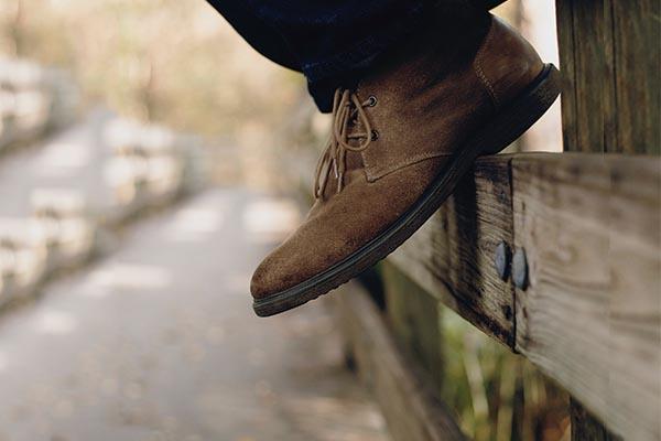 bota de camurça