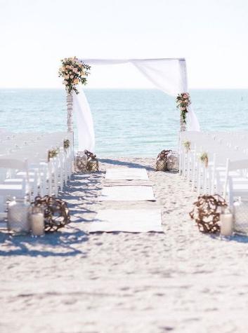 decoração casamento praia
