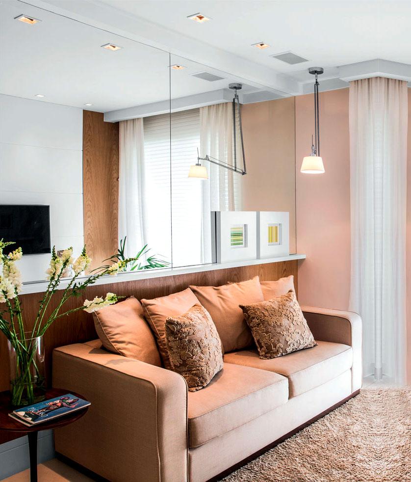 espelhos em apartamentos pequenos