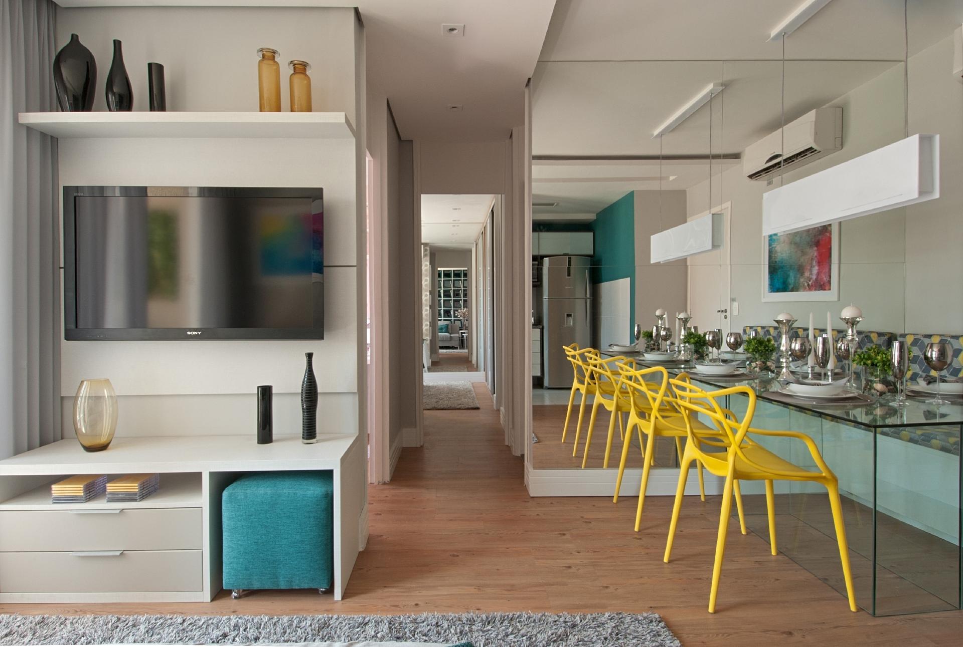 integração ambientes apartamento pequeno