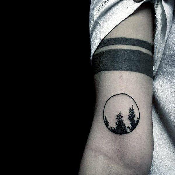 minimalist tattoo men arm