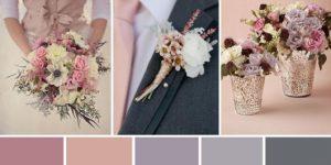 Paleta de cores de casamento tradicional