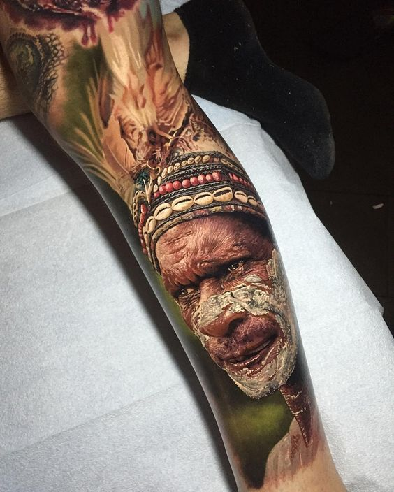 realistic-africa-men-tatoo-in-color