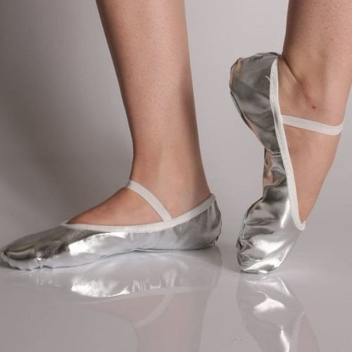 sapatilha metalizada balé