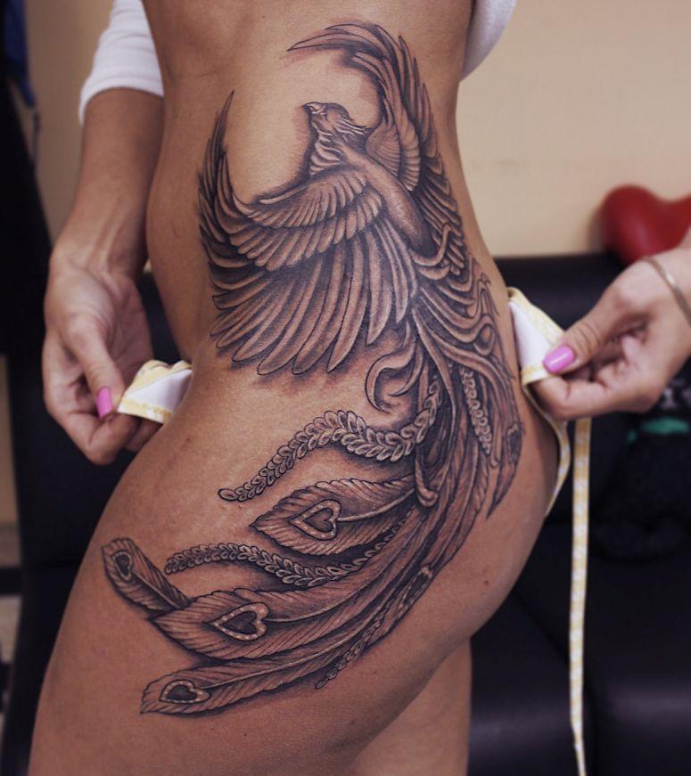 tatuagem de fênix sombreada 2