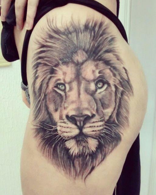 tatuagem de leão realista