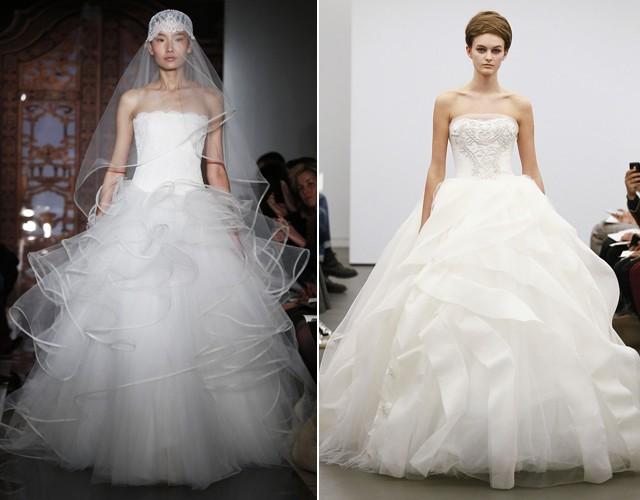 vestido de noiva em camadas