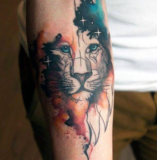 watercolor tattoo men arm