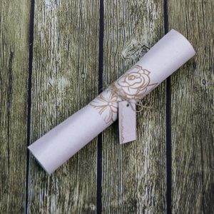 Convite para padrinho de casamento pergaminho
