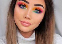 Maquiagem colorida glitter
