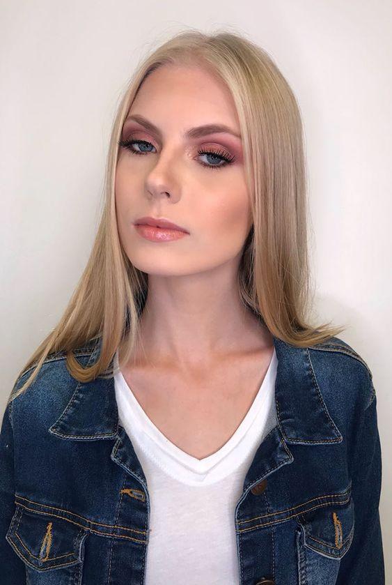 Maquiagem rosada