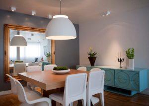 sala de jantar coloridas